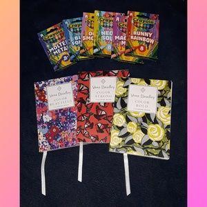 Vera Bradley mini adult coloring book bundle